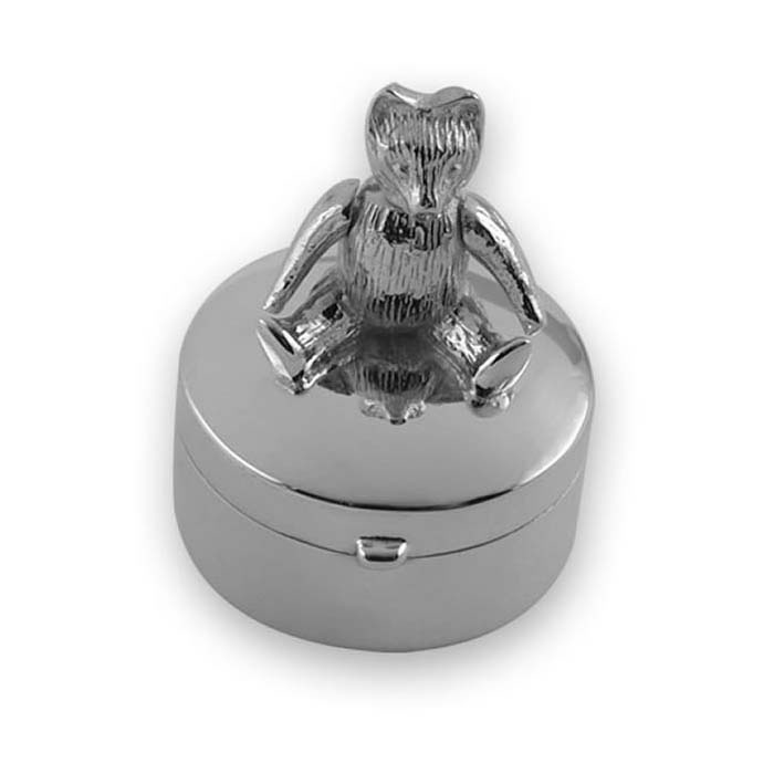 Sterling Silver Small Moveable Teddy Box