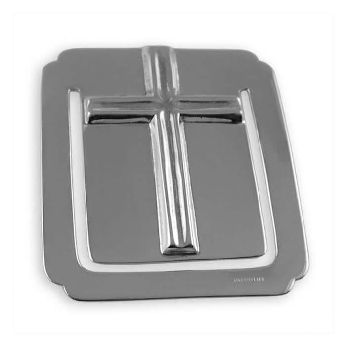 Sterling Silver Rectangular Cross Bookmark