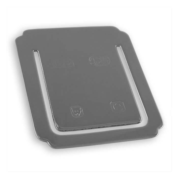 Sterling Silver Feature Hallmark Square Bookmark