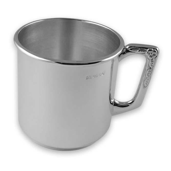 Sterling Silver Plain Christening Mug