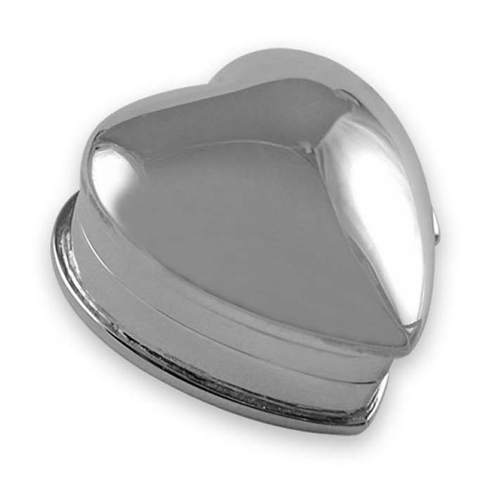 Sterling Silver Small Heart Pill Box