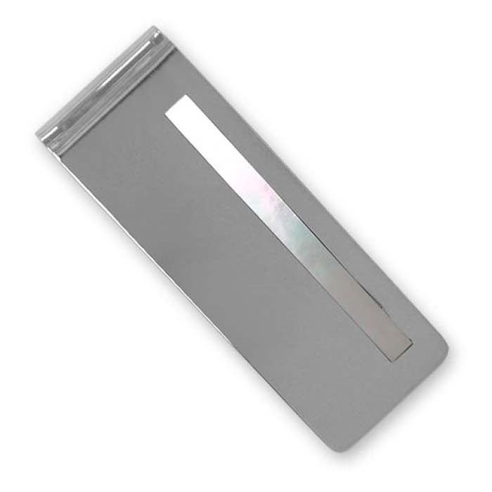 Sterling Silver Mother Of Pearl Money Clip
