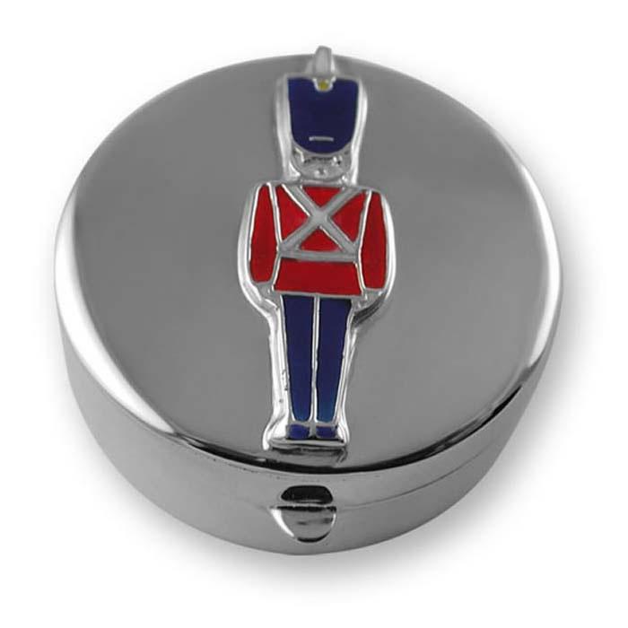 Sterling Silver Enamel Soldier Keepsake Box