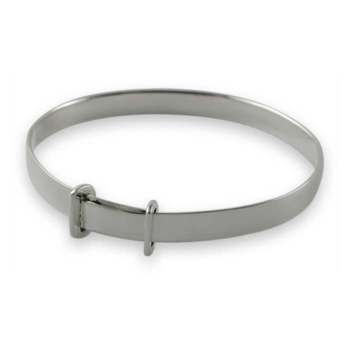 Sterling Silver Plain Baby Bangle