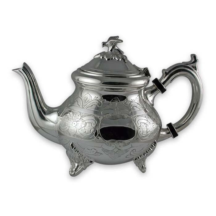 Plated Sterling Silver Hand Engraved Louis Phillippe Tea Pot