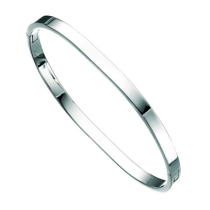 Sterling Silver Heavy TV Bangle