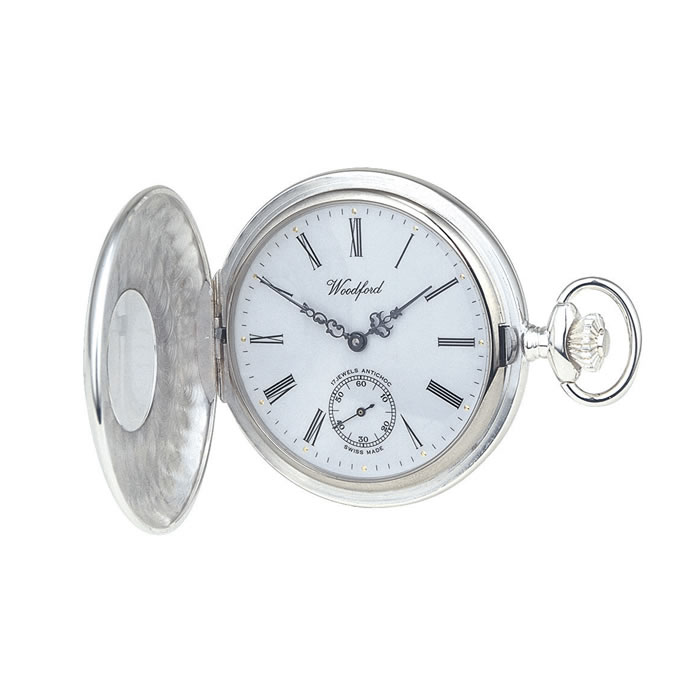 Sterling Silver Swiss Unitas Style Movement Pocket Watch