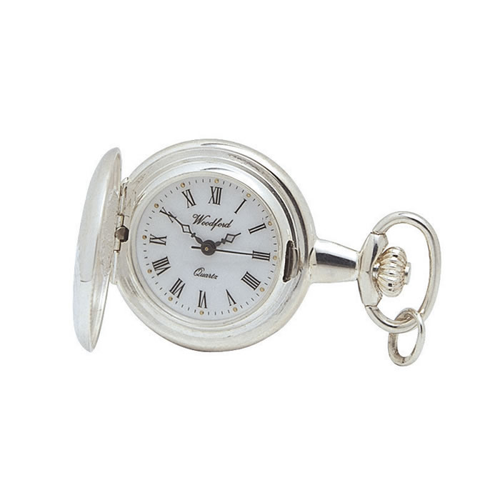 Sterling Silver Quartz Pendant Watch