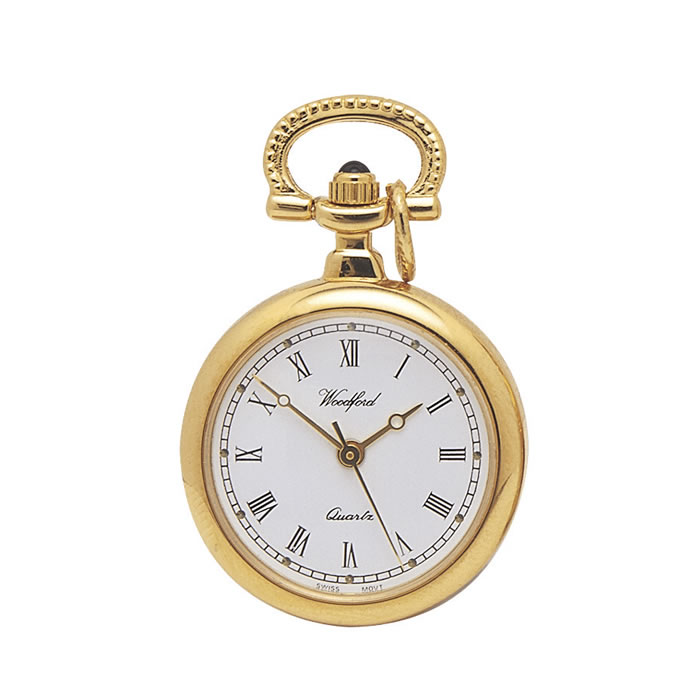 Gold Plated Quartz Pendant Style Watch