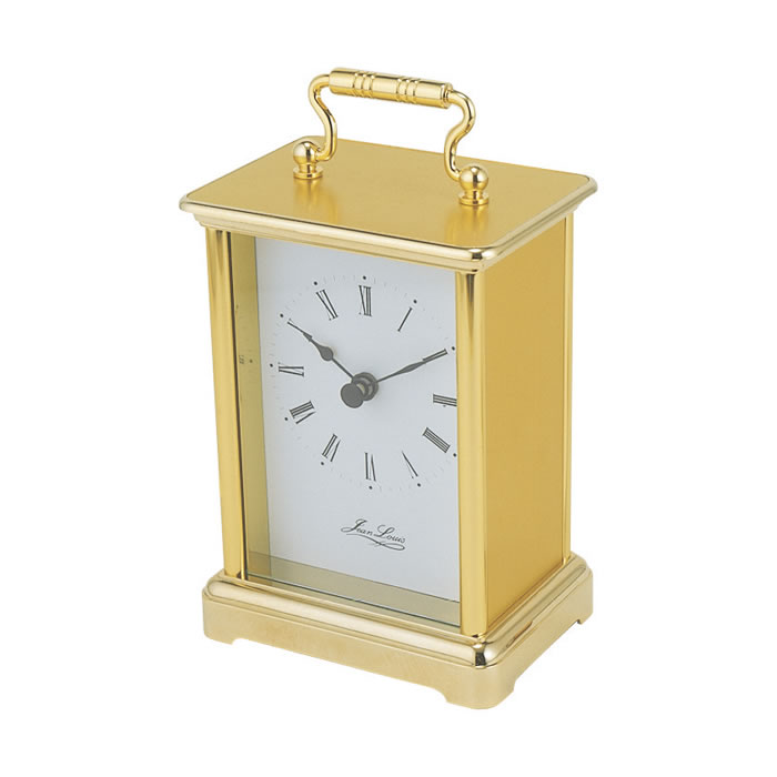 Simple Gold Plated Quartz Carriage Clock