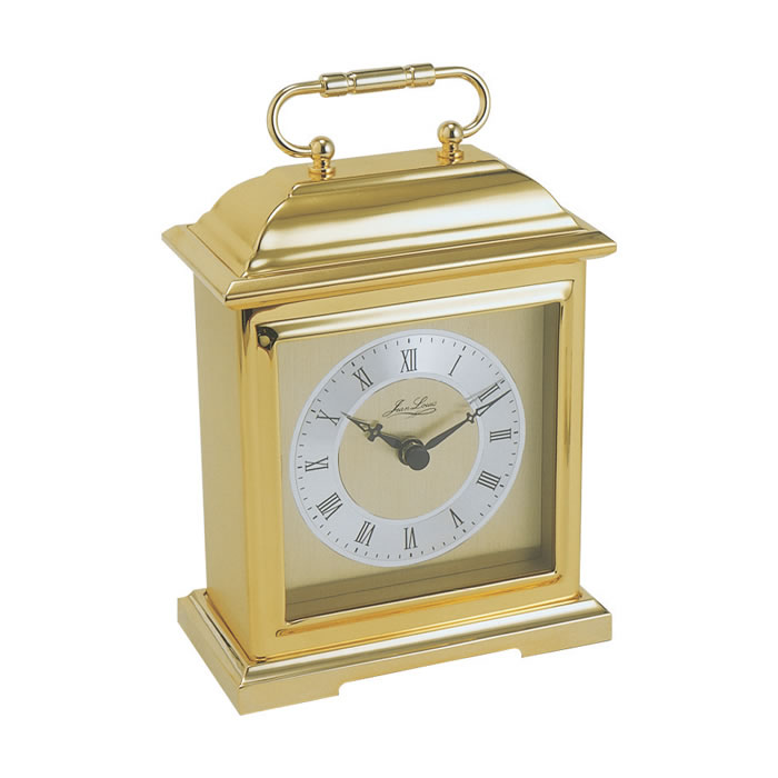 Gold Plated Quartz Carriage Style Clock