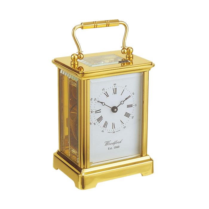 Brass Obis Eight Day Movement Mechanical Carriage Clock