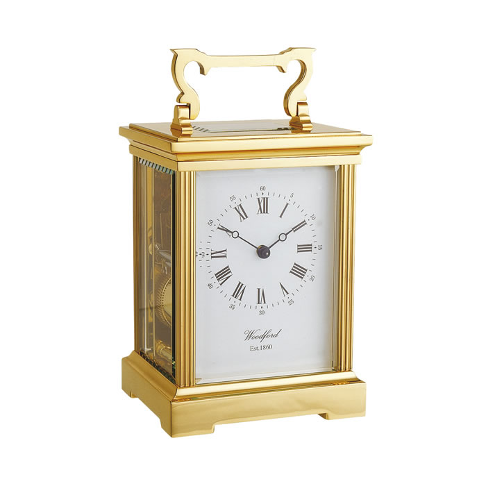 Brass Grand Anglaise Eight Day Movement Mechanical Carriage Clock