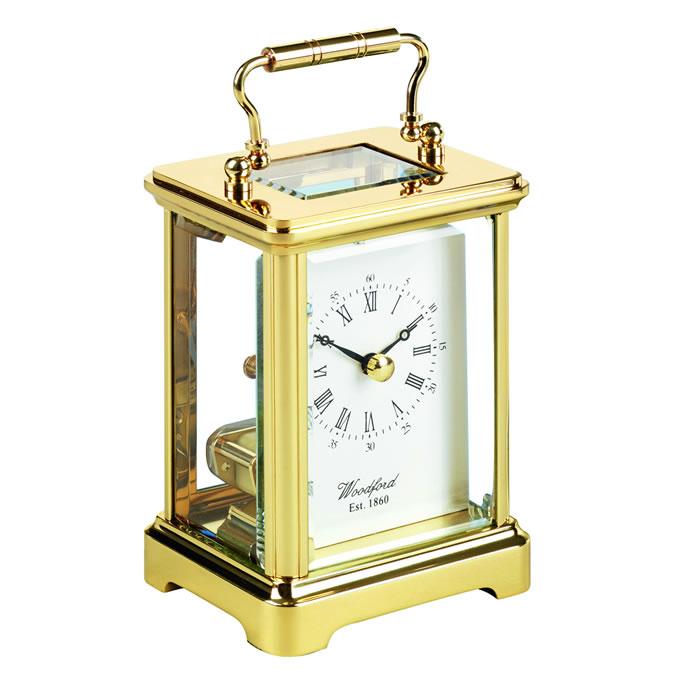 Brass Obis Skeleton Quartz Carriage Clock
