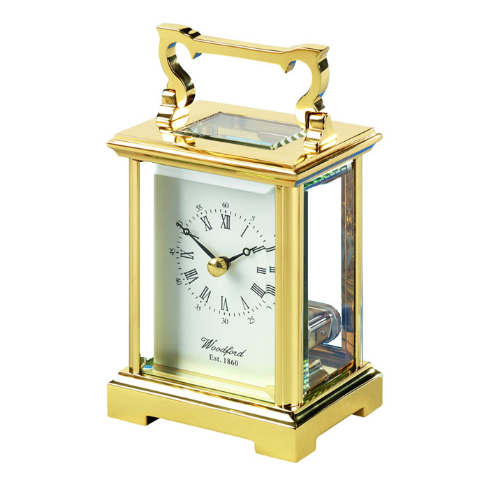 Brass Anglaise Skeleton Quartz Carriage Clock