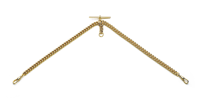 Gold Plated Albert Chain