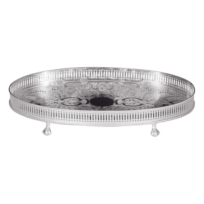 14 Inch Oval Gallery Tray
