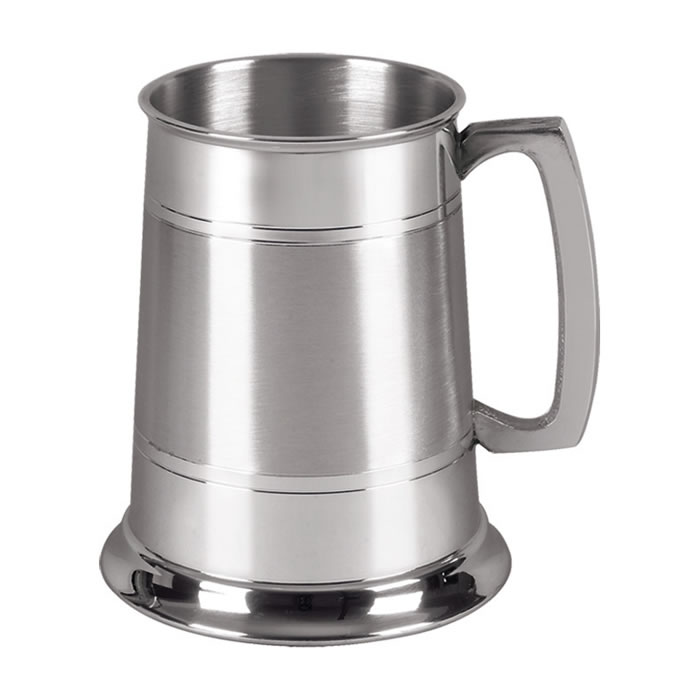 Plain Pewter One Pint Tankard