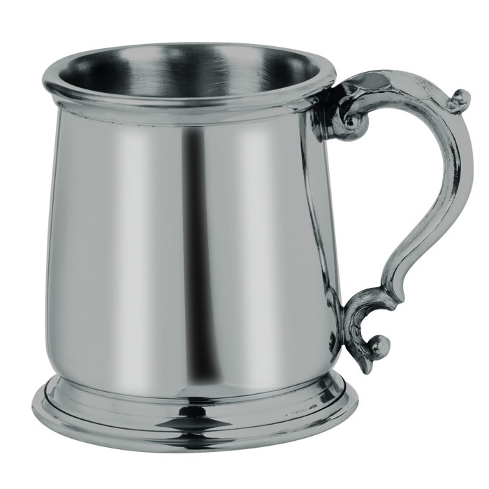 Pewter Heavyweight 1 Pint Tankard
