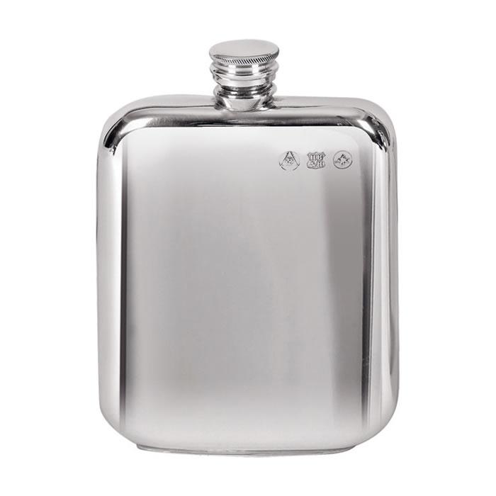 Pewter 17cl Plain Screw Top Flask