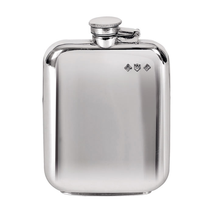 Pewter 17cl Plain Captive Top Flask