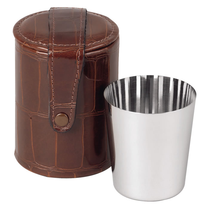 Four Stainless Steel Drinking Cups