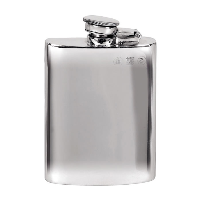 Pewter 11cl Captive Top Flask