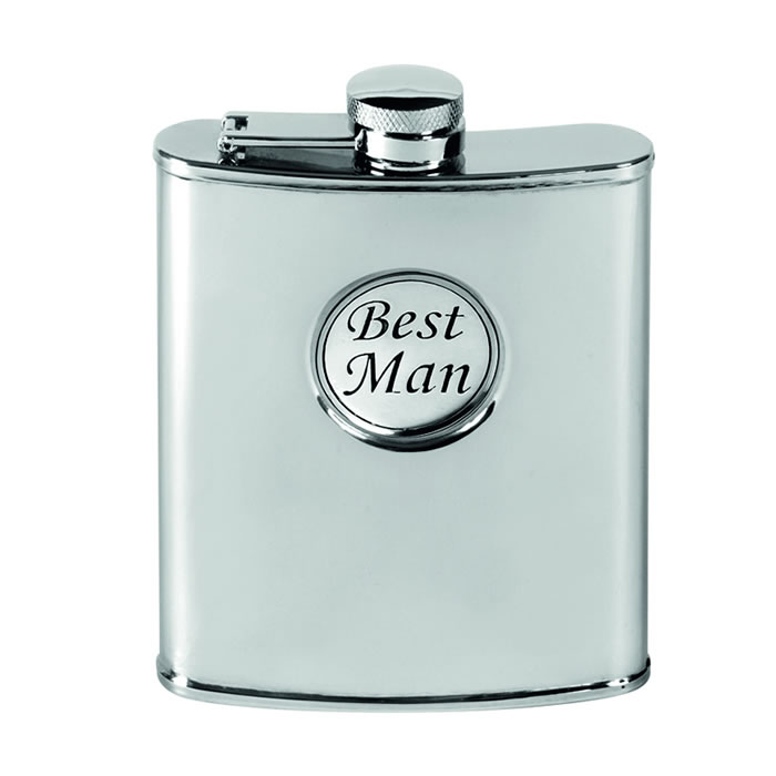 Stainless Steel 17cl Captive Top Best Man Flask