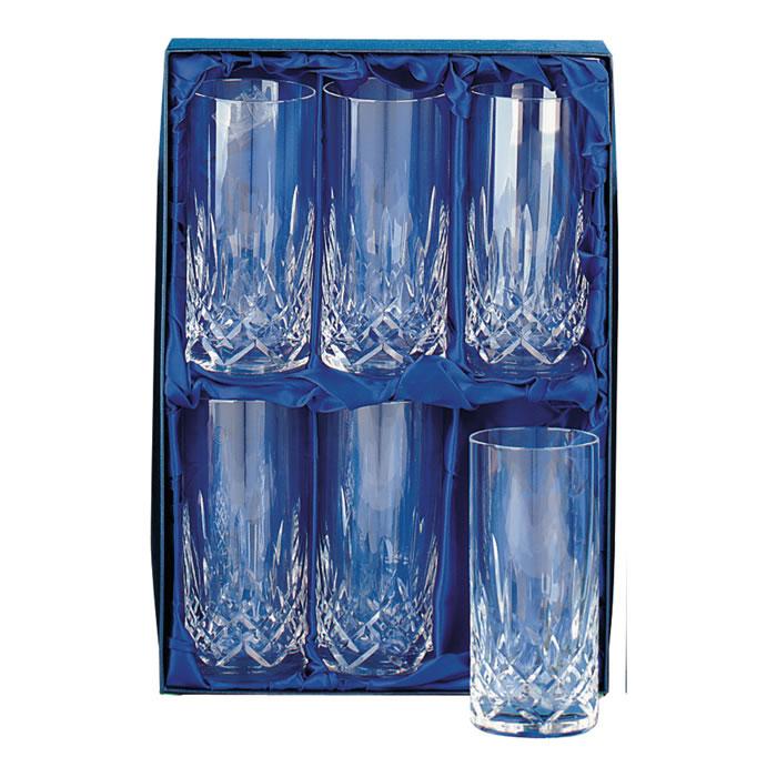 Crystal Hi Ball Glass Set