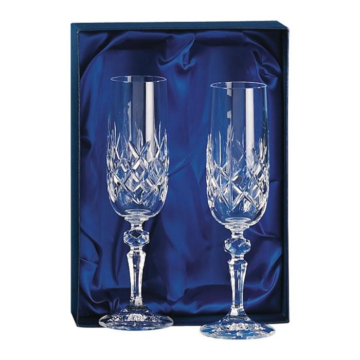 Crystal Champagne Glasses Set