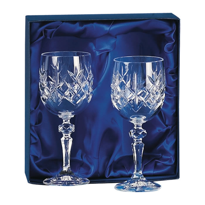 Crystal Wine Glasses Pair