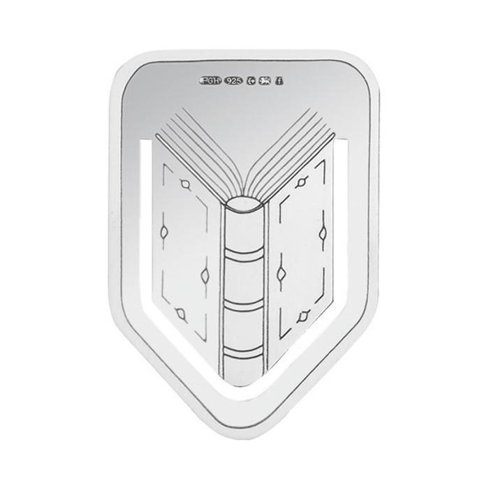 Sterling Silver Book Design Bookmark