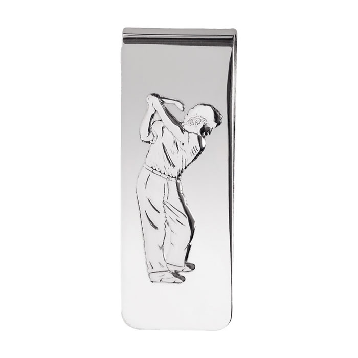 Sterling Silver Golf Money Clip