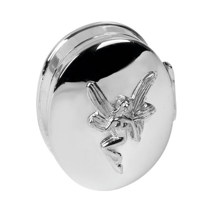Sterling Silver Fairy Shaped Box
