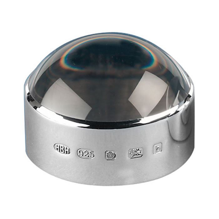 Sterling Silver 2 Inch Hallmarked Magnifier Paperweight