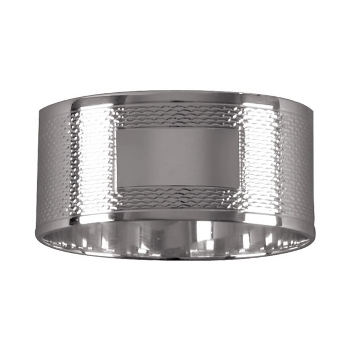 Sterling Silver Line Patterned One Oz Napkin Ring
