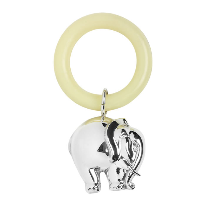 Sterling Silver Elephant Teething Ring