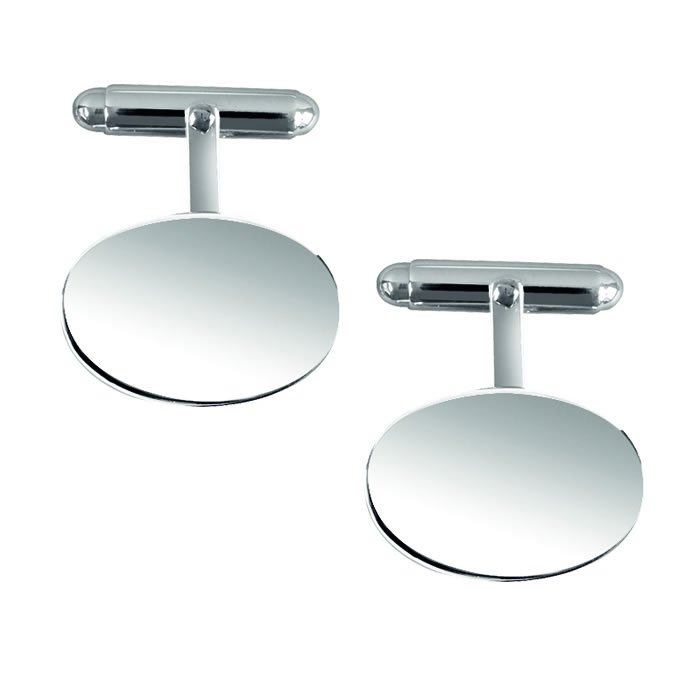 Sterling Silver Plain Styled Post Cufflinks