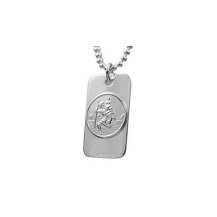 Sterling Silver Large St Christopher Pendant