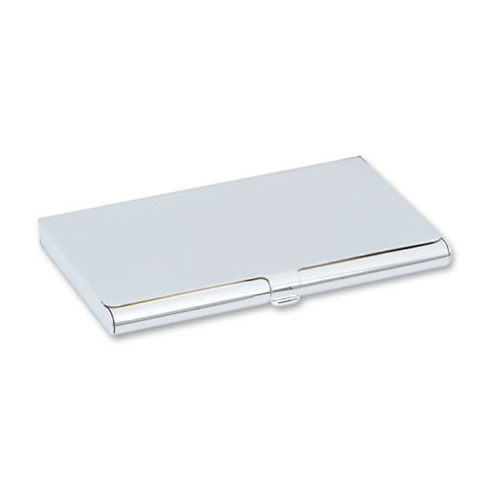 Personalised engraved business card holders unique feminine plain nickel plated business card holder colourmoves