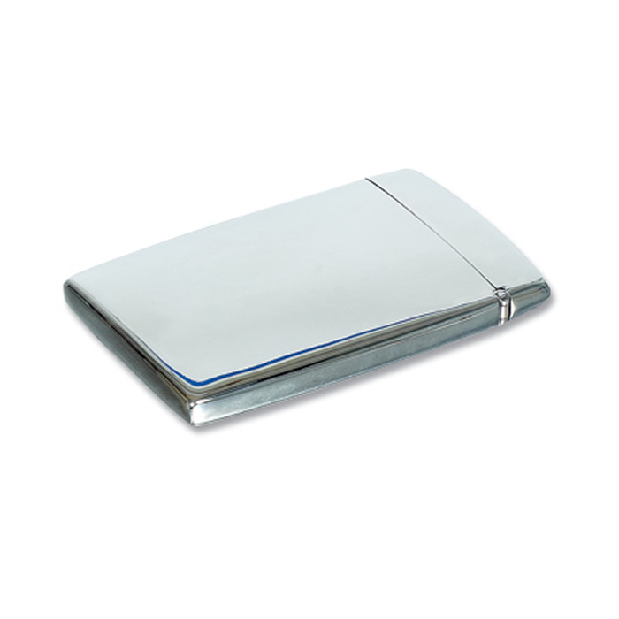 Stainless steel polished plain flip top business card holder colourmoves