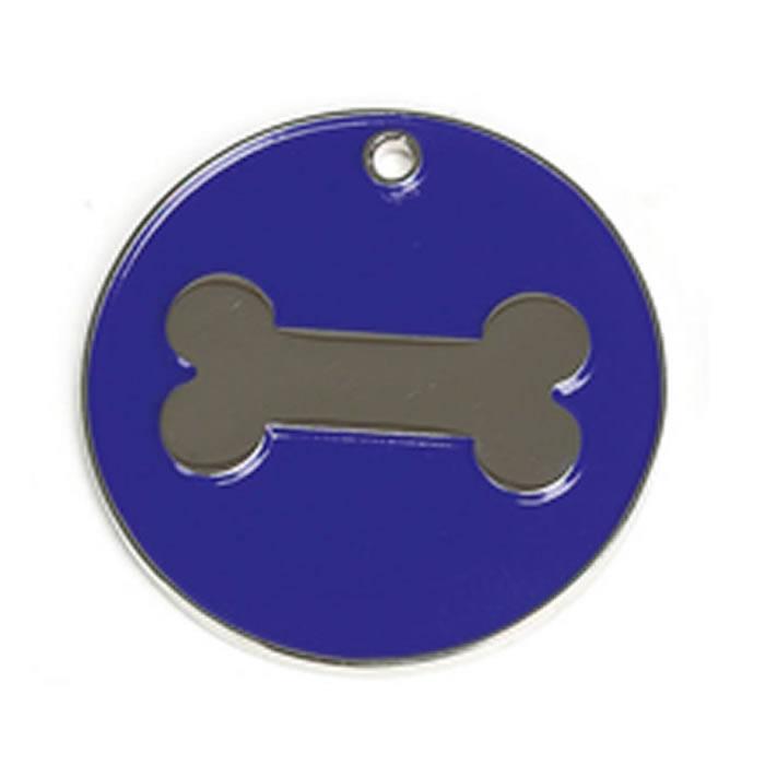 Dark Blue Bone Dog Pet Tag