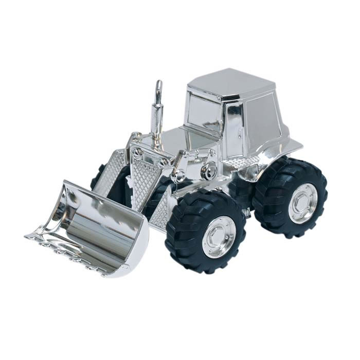 Silver Plated Digger Money Box