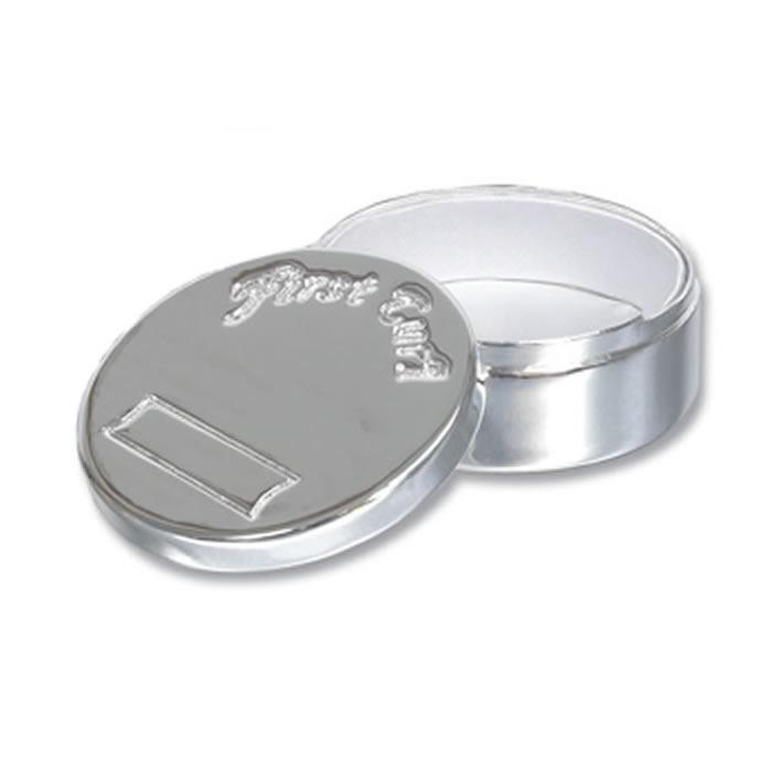 Silver Plated First Curl Keepsake Box