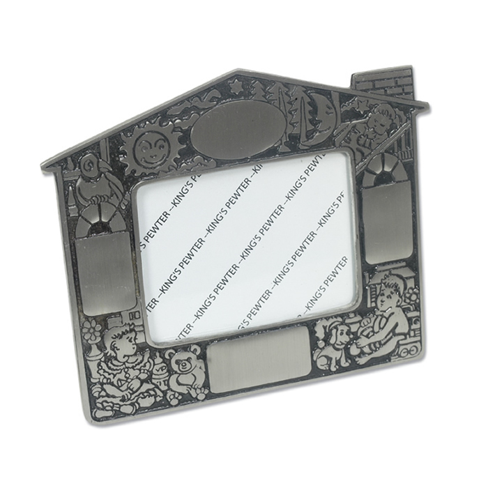 Pewter Baby's House Photo Frame