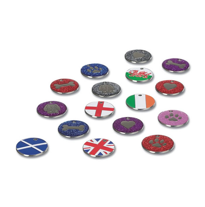 England Flag Nickel Dog Pet Tag