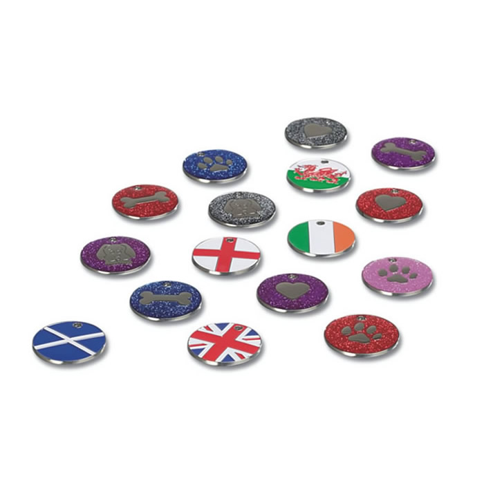 Great Britain Flag Nickel Dog Pet Tag