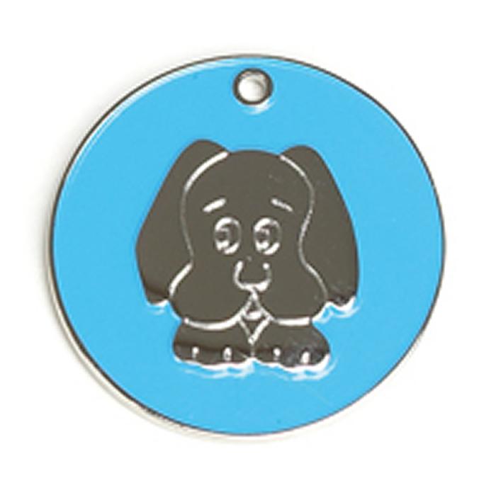 Light Blue Dog Dog Pet Tag