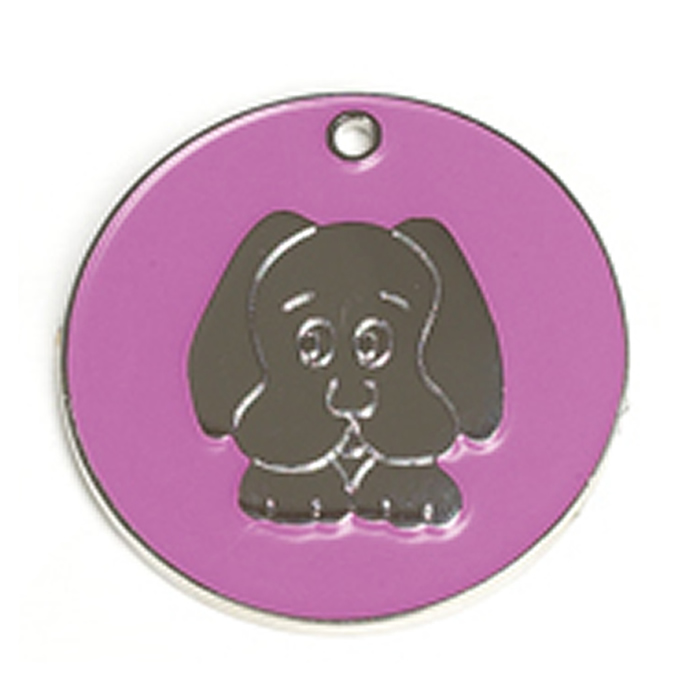 Pink Dog Dog Pet Tag