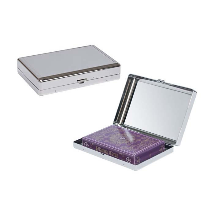 Nickel Plated Playing Card Case